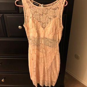 Blush Pink Lace BEBE Dress